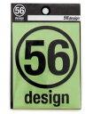 56design 56デザイン ロゴステッカー サークルロゴ80