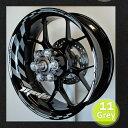 【在庫あり】モトインクズ ステッカー デカール GPレーシングホイール リムステッカー1(GP Racing Wheel Stripes design 1) フロントホイールサイズ(front):17inch リアホイールサイズ(Rear):17inch