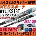 2018ルイスビル カタリスト2 TI ソフトボールバット(革 ゴム3号)【おまけ付】WTLJKS18T(JKS17T後継)