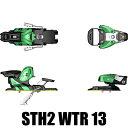 サロモン スキービンディング STH2 WTR 13 グリーン ブラック 115mm SALOMON スキービンディング13-14【w18】