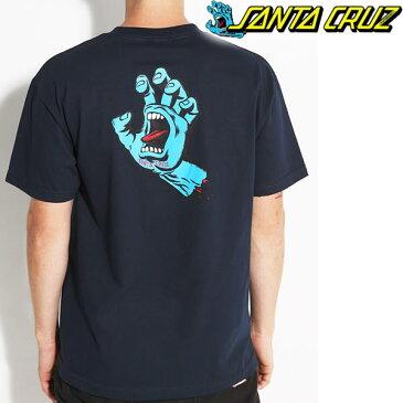 サンタクルーズ Tシャツ SANTA CRUZ スクリーミングハンド S/S NAVY スケボー ブランド Tシャツ【w62】