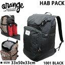 スノーボード ブーツバッグ ORAN'GE HAB PACK  1001 BLACK  オレンジ  ブーツケース