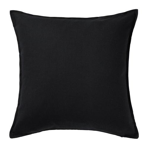 【IKEA/イケア/通販】 GURLI グルリ クッションカバー(※カバーのみの商品です), ブラック(f)(60281139)