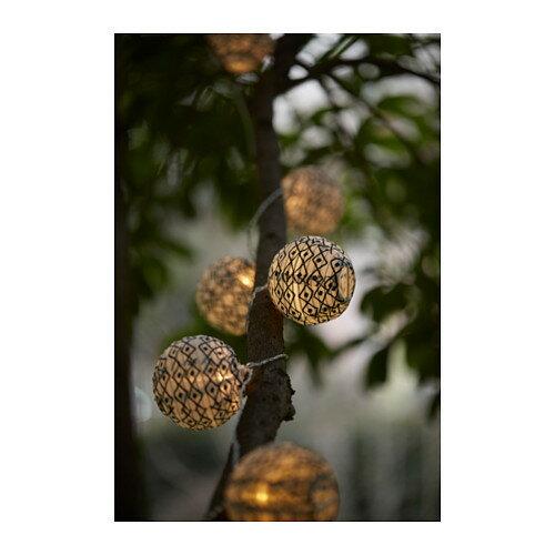 【IKEA/イケア/通販】 SOLVINDEN ライトチェーン用デコレーション, 球形 ブラック/ホワイト(c)(00341358)