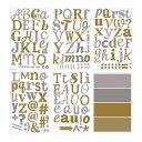 RoomClip商品情報 - 【IKEA/イケア/通販】 KLÄTTA デコレーションステッカー, メタリック文字, ゴールド/シルバー カラー(b)(10311153)