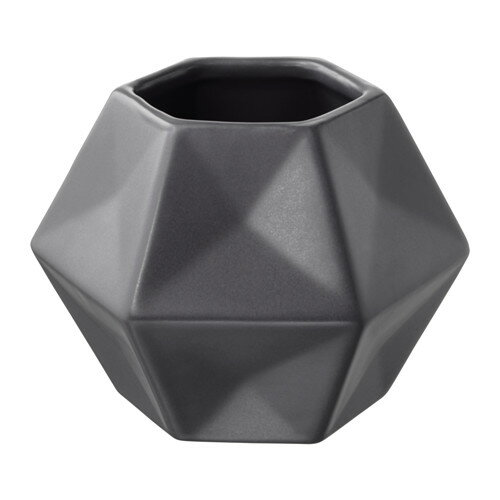 【IKEA/イケア/通販】 LIVSLÅNG 花瓶, グレー(b)(60344429)