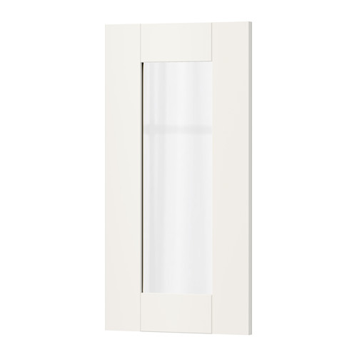 【IKEA/イケア/通販】 SÄVEDAL ガラス扉, ホワイト(b)(60294274)