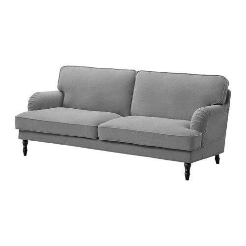【IKEA/イケア/通販】 STOCKSUND 3人掛けソファ, ジュンゲン グレー, ブラック/ウッド(c)(S19129809)の写真