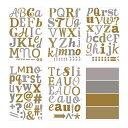 RoomClip商品情報 - 【IKEA/イケア/通販】 KLÄTTA クレッタ デコレーションステッカー, メタリック文字, ゴールド/シルバー カラー(f)(10311153)