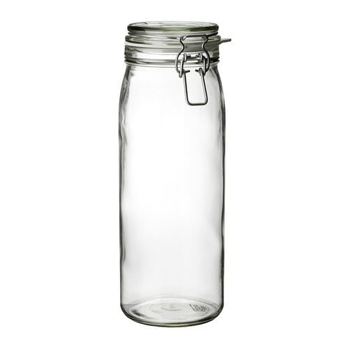 IKEA KORKEN (コルケン) ふた付き容器, クリアガラス