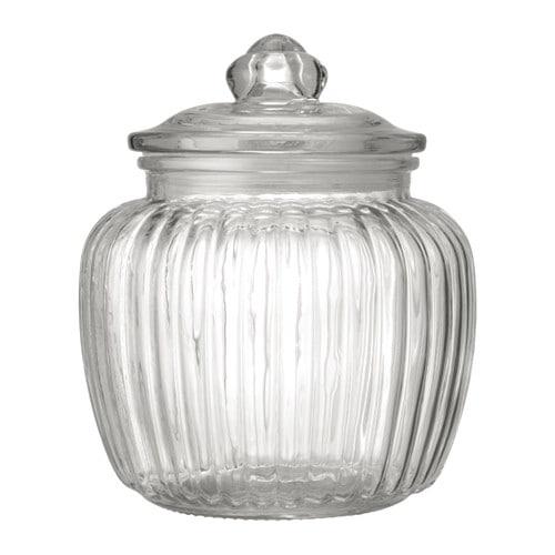 【IKEA/イケア/通販】 KAPPROCK カップロック ふた付き容器, クリアガラス(c)(70332317)