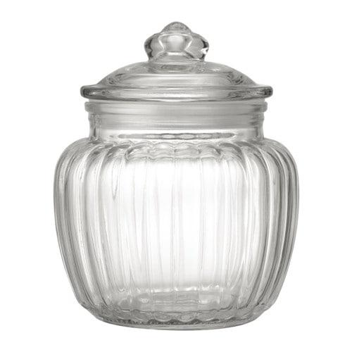 【IKEA/イケア/通販】 KAPPROCK カップロック ふた付き容器, クリアガラス(c)(10332315)