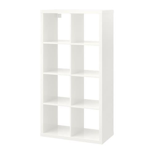 【期間限定】【IKEA/イケア/通販】 KALLAX カラックス シェルフユニット, ハイグロス ホワイト(d)(50353589)【代引不可商品】