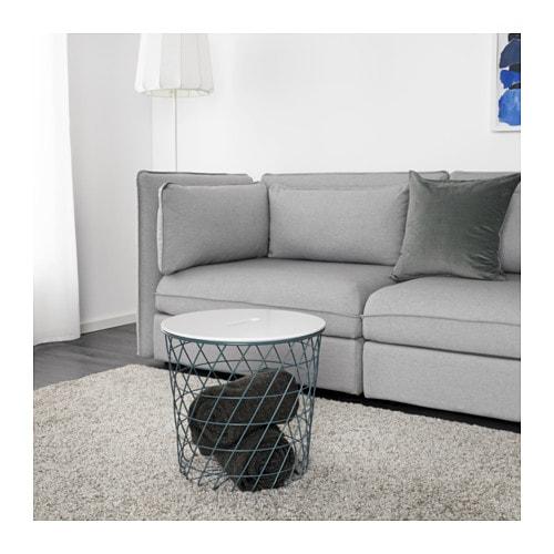 【IKEA/イケア/通販】 KVISTBRO クヴィストブロー 収納テーブル, ターコイズ●(c)(90322242)【代引不可商品】