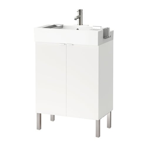 【IKEA/イケア/通販】 LILLÅNGEN リルオンゲン 洗面台 扉2枚, ホワイト(a)(S59155387)【代引不可商品】