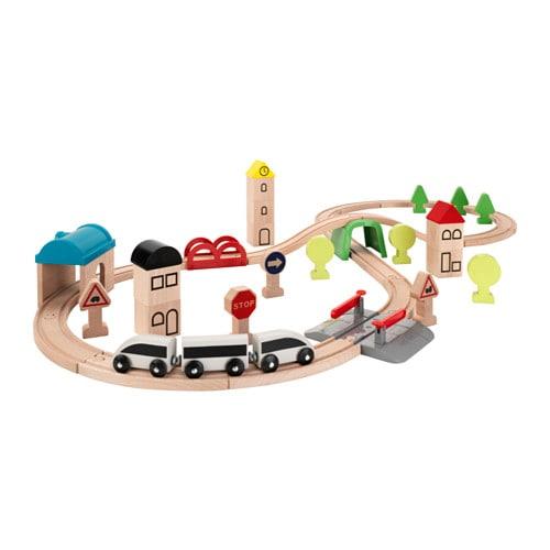 【IKEA/イケア/通販】 LILLABO リラブー 列車 レール付き 45点セット(c)(00330067)