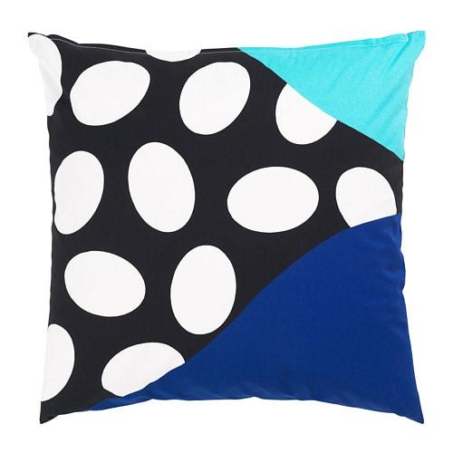 【IKEA/イケア/通販】 MOSAIKBLAD モサイクブラード クッションカバー(※カバーのみの商品です), ブルー, ブラック(a)(30427464)