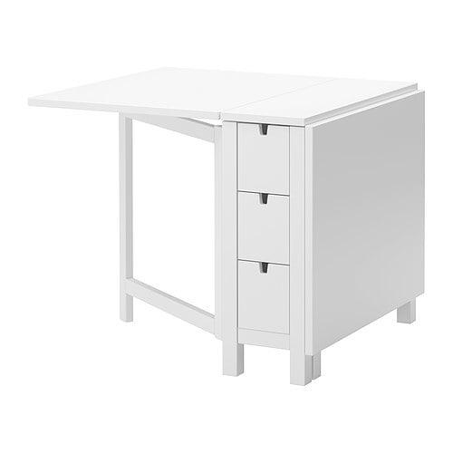 【IKEA/イケア/通販】 NORDEN ゲートレッグテーブル, ホワイト(d)(50290224/40365795) 木目カントリー調、北欧デザインの家具ブランド。DIYやリメイクにも