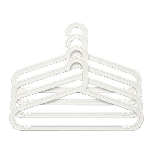 【IKEA/イケア/通販】 BAGIS 洋服ハンガー, ホワイト/ 4 ピース(c)(10196290)