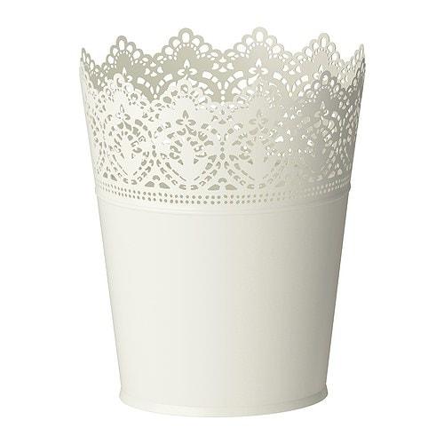 【IKEA/イケア/通販】 SKURAR スクラール 鉢カバー, オフホワイト 室内/屋外用, オフホワイト(c)(40193346)