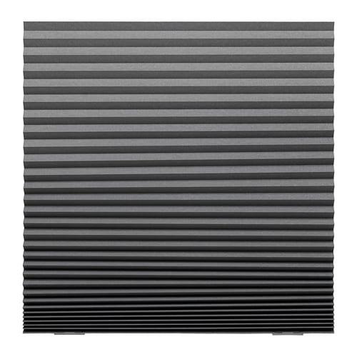 【IKEA/イケア/通販】 SCHOTTIS ショッティス 遮光プリーツブラインド, ダークグレー(c)(70369508)