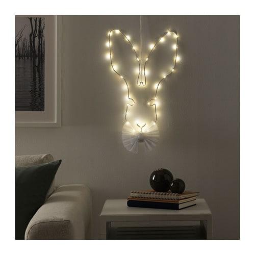 【IKEA/イケア/通販】 STRÅLA ストローラ LEDウォール/ペンダントランプ, 電池式 ノウサギ(c)(00415556)