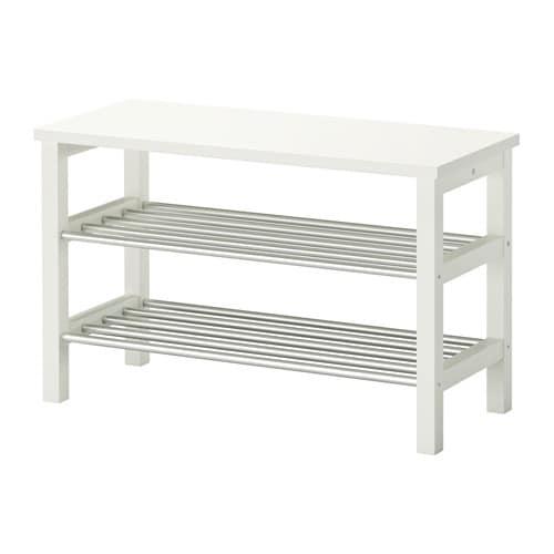 【IKEA/イケア/通販】 TJUSIG シューシグ ベンチ 靴収納付き, ホワイト(f)(80299063)