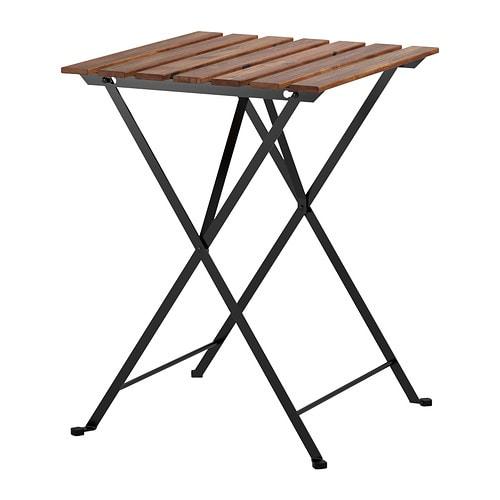 【特選商品】【IKEA/イケア/通販】 TÄRNÖ テルノー テーブル 屋外用, ブラック アカシア材, グレーブラウンステイン スチール(c)(80165129)