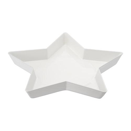 【IKEA/イケア/通販】 VINTER 2018 ヴィンテル 2018 キャンドル皿, 星, ホワイト(a)(40403212)
