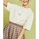 ショッピングスティッチ SALE56%OFF HinanonカラーステッチロゴTシャツ Hinata キッズ 女の子 子供服 tシャツ レディース tiktok トップス 半袖 ワンポイント 150cm 150サイズ WEGO ウィゴー
