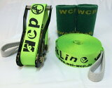 ��ͽ��������աۡڥ���å��饤��� ��WCP Slackline�� Glitterline 15m����Fluorescent Green/�ָ���ȯ���饤��� �ʥĥ������2��/��Ǽ���å���°�� ���ܥ�����ǿ���ǥ�ȯ��