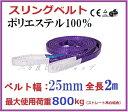 スリングベルト ベルト幅25mm 全長2m/耐久性に優れているポリエステル強力原糸100 ナイロンスリング ベルトスリング 繊維ベルト【あす楽対応】スリングベルト25mm2m