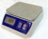 【あす楽対応】「送料無料」防塵デジタル皿はかり15kg/1g バッテリー内蔵充電式 液晶大画面表示 ステンレス皿仕様 (皿はかり) 【はかりデジタル計り量り】おすすめ 【三方良し】
