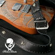 50mm Width Soft Leather Guitar Strap/Round & Skull Studs