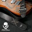 50mm Width Soft Leather Guitar Strap/HISASHI Mark Studs Design(Silver)