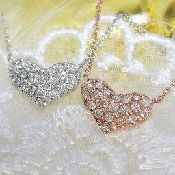 ダイヤモンド ネックレス ハートパヴェ ダイヤネックレス 一粒ダイヤモンドネックレス 10金 受注品 レディース シンプル 1粒ダイヤ 記念 ジュエリー アクセサリー お祝い ギフト 誕生日プレゼント 女性 贈り物 ダイアモンド 首飾り 売れ筋