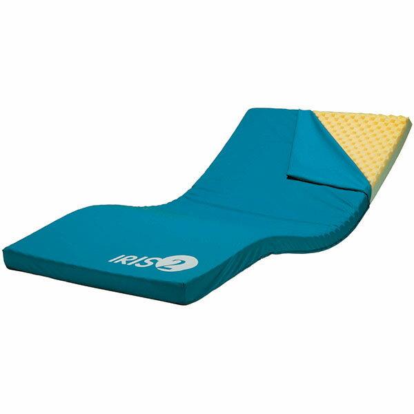 ケープ薄型2層構造・床ずれ防止ウレタンフォームマットレスアイリス2(上敷きタイプ)ワイド幅90cm/