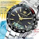 送料無料 JOHN HARRISON ジョンハリソン 腕時計 メンズ ソーラー 電波 Men's JH-094GB アナデジ シルバー ブラック J.HARRISON ジョン・ハリソン 時計 人気 ブランド ジョン・ハリソン うでどけい とけい ジョンハリソン腕時計 ジョンハリソン時計 父の日 ギフト プレゼント