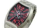 [送料無料][正規品][1年保証] COGU コグ 腕時計 メンズ 時計 ジャンピングアワー 自動巻き JH4LM-PKB ブラック レッド シルバー