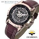 送料無料 ジョンハリソン JOHN HARRISON 腕時計 自動巻き メンズ 2017年 新作 スケルトン JH-038PB ピンクゴールド ジョンハリソン腕時計 ジョン・ハリソン 時計 人気 ブランド ジョンハリソン時計 おしゃれ 男性 ギフト プレゼント