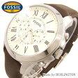 激安 特価品 フォッシル FOSSIL 腕時計 メンズ Men's 時計 FS4735 アイボリー × ブラウン 人気 ブランド フォッシル腕時計 フォッシル時計 FOSSIL腕時計 FOSSIL時計 うでどけい とけい 楽天 おしゃれ レザー 皮 ベルト ランキング 男性 プレゼント ギフト