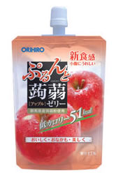 オリヒロ ぷるんと蒟蒻ゼリー 【アップル】 (130g) ウェルネス