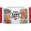 ヘルシーキューピー 玄米雑炊6食セット 熱湯2分