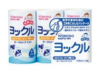 wakodo和光堂婴儿补充体力乳酸菌酸奶饮料125ml*3支