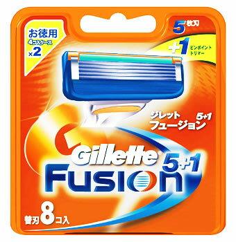 P&G ジレット フュージョン 5+1 替刃 (8個入) カミソリ 【P&G】