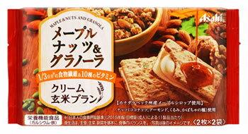 アサヒ バランスアップ クリーム玄米ブラン メープルナッツ&グラノーラ (2枚×2袋) 栄養機能食品 ウェルネス