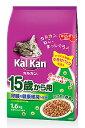 マースジャパン カルカン ドライ 15歳から用 かつおと野菜味 (1.6kg) キャットフード 高齢猫用