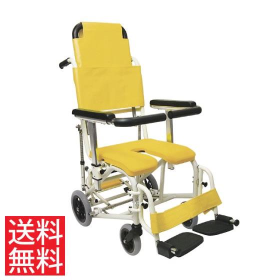シャワー用車椅子KS11-PFティルトリクライニングスイングアウトカワムラサイクル高さ調節フットブレ