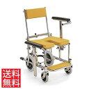 コンパクトサイズ シャワー用 車椅子 KS3 高床 カワムラサイクル ステンレス製 クリありシート フットブレーキ 前後式バックサポート ..
