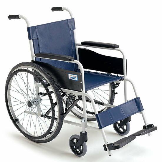送料無料車椅子施設病院店舗シンプルお手入れ簡単ノーパンクMIKIミキスチール製FE-4自走用車イス車